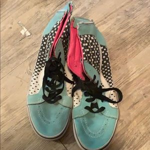 Teal and star vans